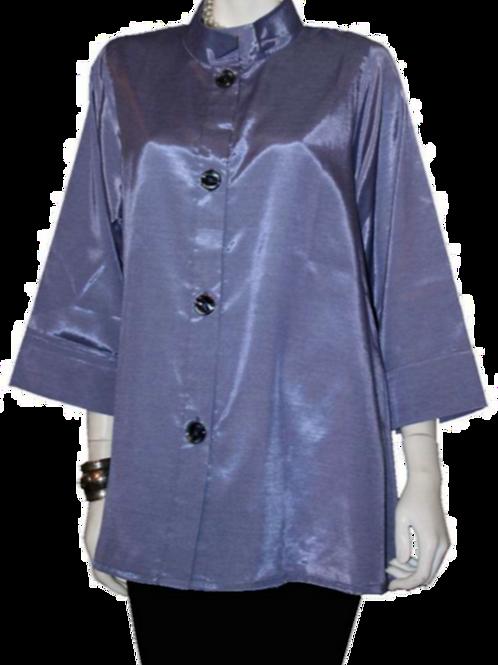 Purple/Gray Iridescent Solid Swing Top