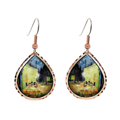 Van Gogh's Café Teardrop Earrings