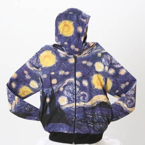Starry Night Art Hoodie