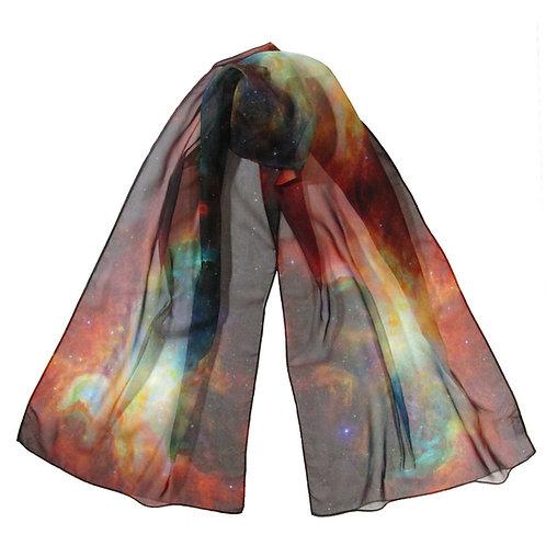 Rainbow Hubble Image Chiffon Scarf