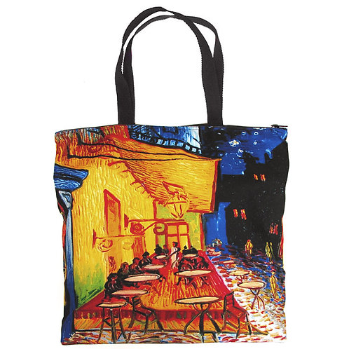 Cafe Terrace Canvas Tote
