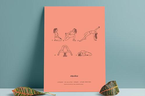 Poster digital AstroYoga: Aquário