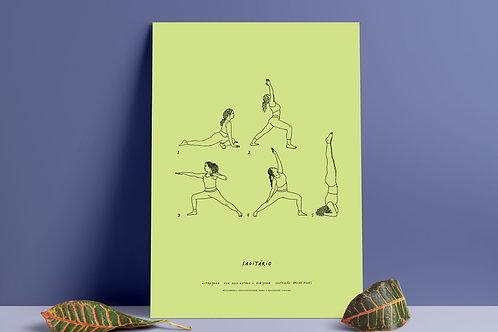 Poster digital AstroYoga: Sagitário