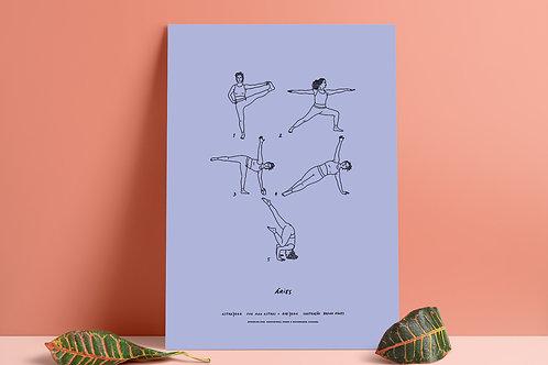 Poster digital AstroYoga: Áries