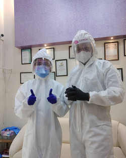PPE Suits at the clinic