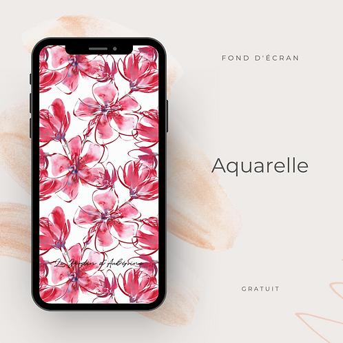 Fond d'écran téléphone - Aquarelle