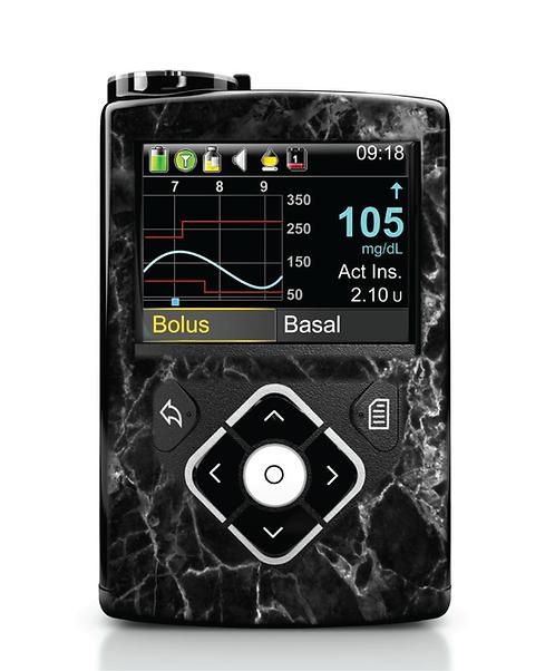 MiniMed 640G / 780G - Marbre noir