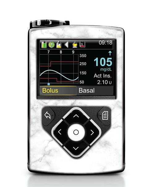 MiniMed 640G / 780G - Marbre blanc