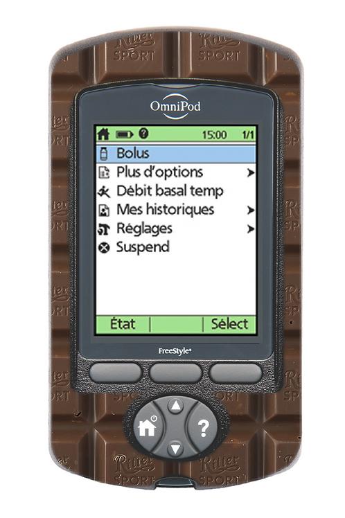 Omnipod PDM - Chocolat