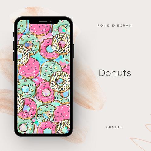 Fond d'écran téléphone - Donuts