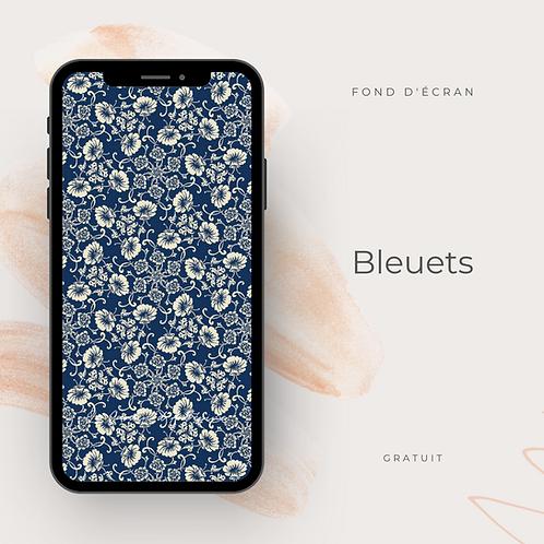 Fond d'écran téléphone - Bleuets