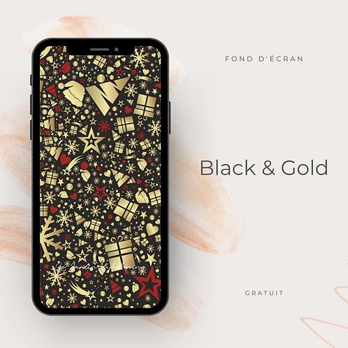Fond d'écran téléphone - Black &Gold