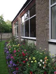Exterior flowerbed