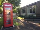 Exterior with red telephone box