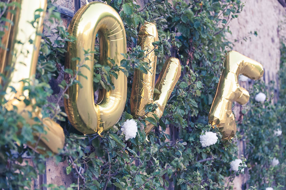 """Décoration extérieur, ballon """"love"""""""