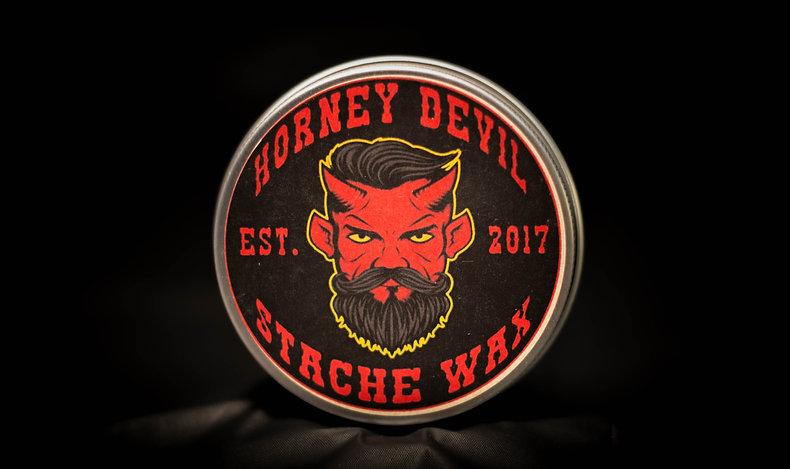Horney Devil Mustache Wax -2oz