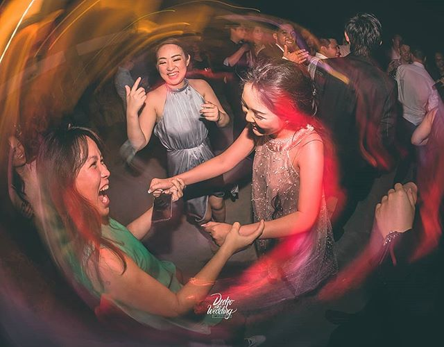 The Key Ingredients for an _Ultimate Happy Wedding Moment _ ___- Put the bride in the middle of the #dancefloor_- Add #sisters and #besties_