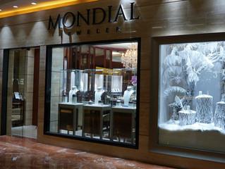 Mondial Jeweler Christmas Window Display