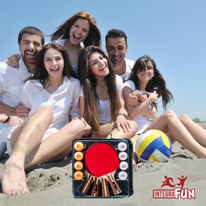 IntegraFun 4- Player Ping Pong Paddles Set