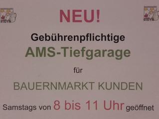 NEU! Benützung von AMS Tiefgarage