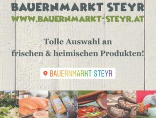 Bauernmarkt Steyr versorgt Sie auch weiterhin mit regionalen Produkten