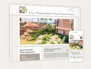 Bauernmarkt mit neuer Homepage!