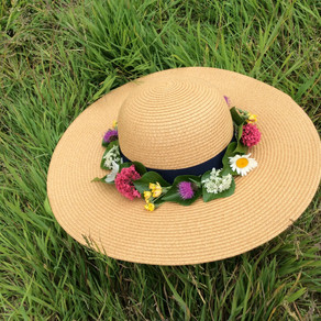 Hats at Home - A floral garland!