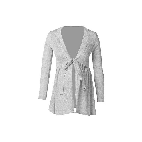 Grey Front Tie Jersey