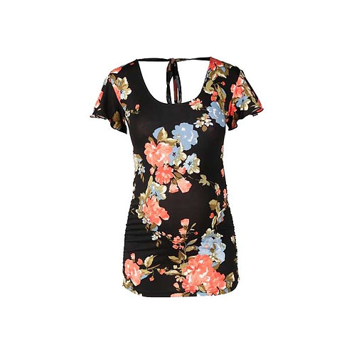 All in one Floral Tie-up Top