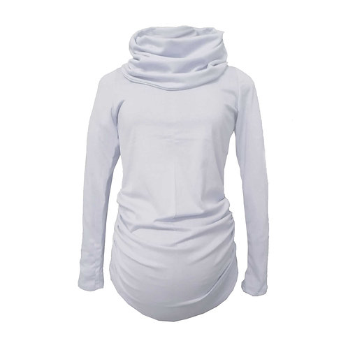 Grey Polo neck long sleeve top