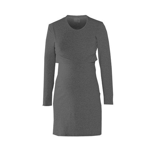 Charcoal Grey Long Sleeve Breastfeeding Nightie