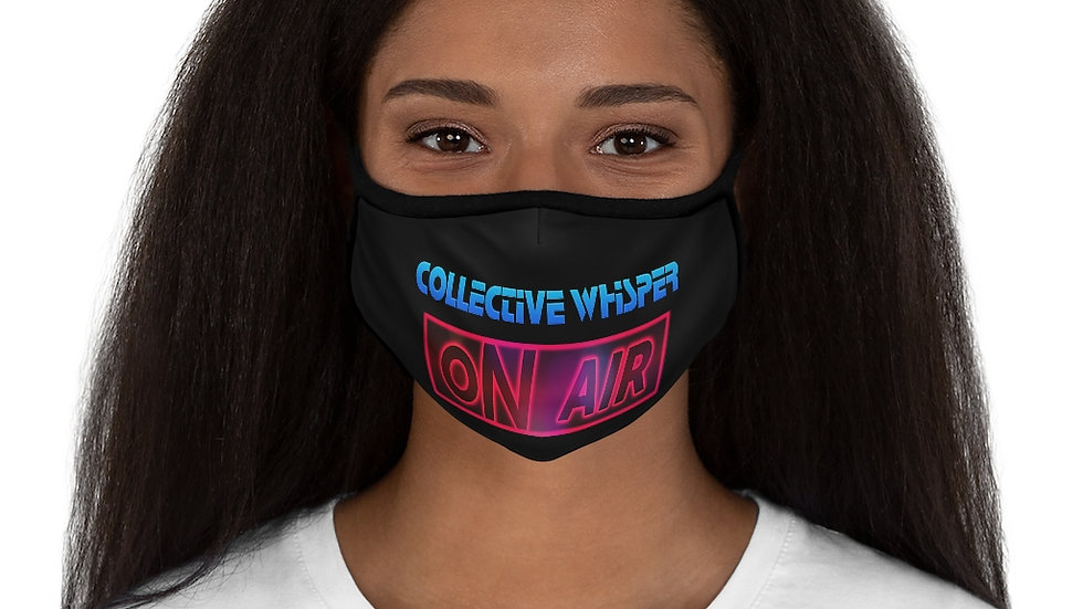 CW podcast Fitted Polyester Face Mask black