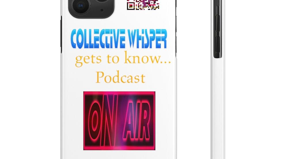 CW podcast  slim phone cases blue
