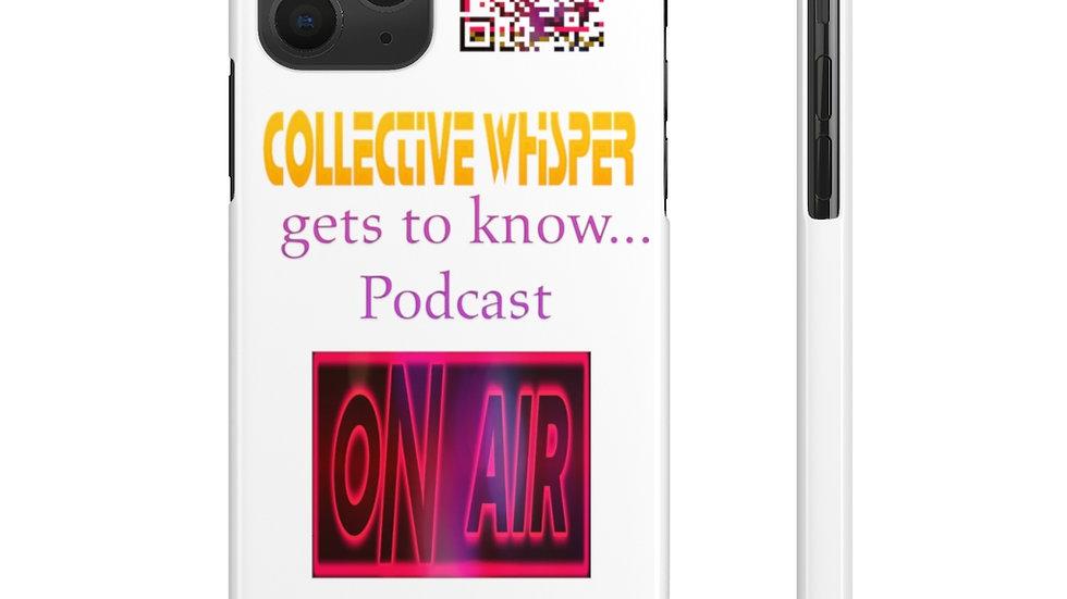CW podcast  slim phone cases orange
