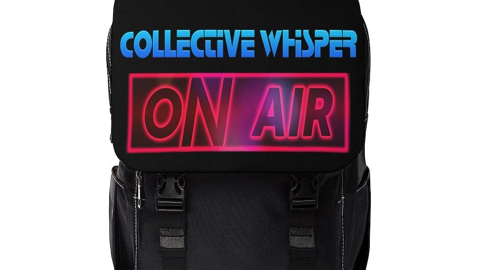 CW podcast Unisex Casual Shoulder Backpack black