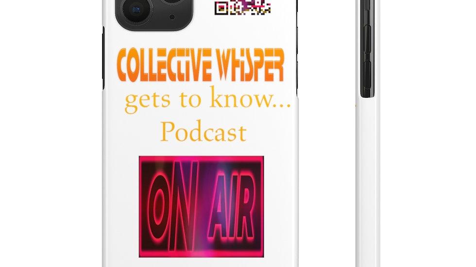 CW podcast  slim phone cases yellow