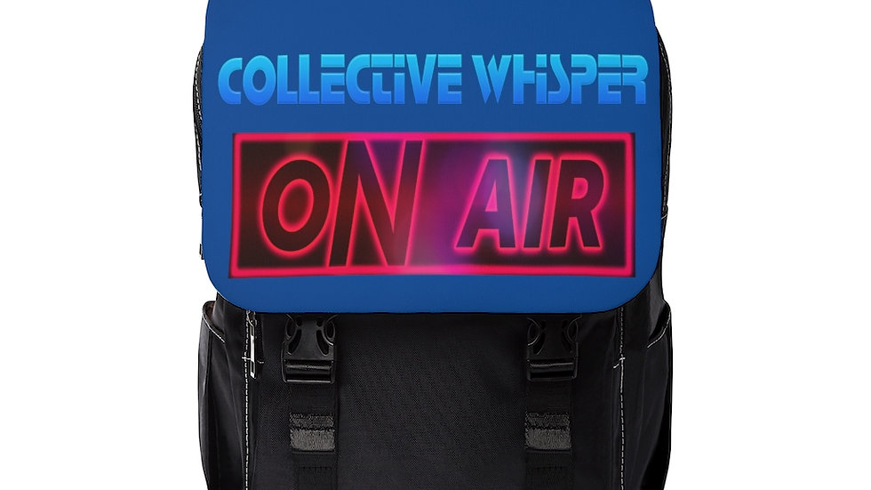 CW podcast Unisex Casual Shoulder Backpack black and blue