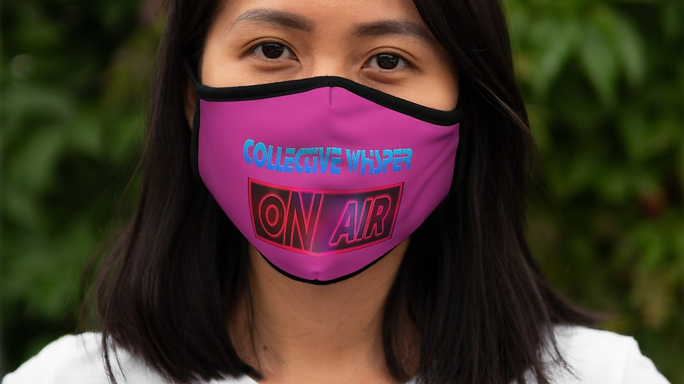 CW podcast Fitted Polyester Face Mask pink