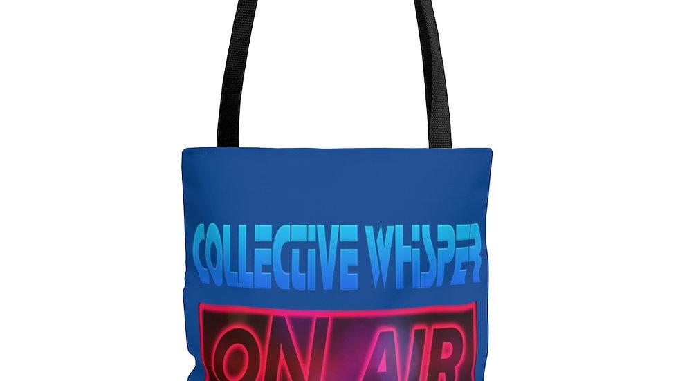 CW podcast AOP Tote Bag blue