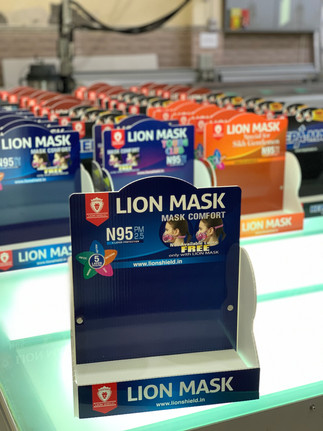 Foldable Counter Top Unit for Lion Mask