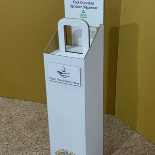Craft Corrugated Foot-operated Handsfree Sanitizer Dispenser COVID-19