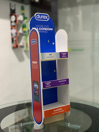 Foldable Wall Parasite Product Display Unit for Durex