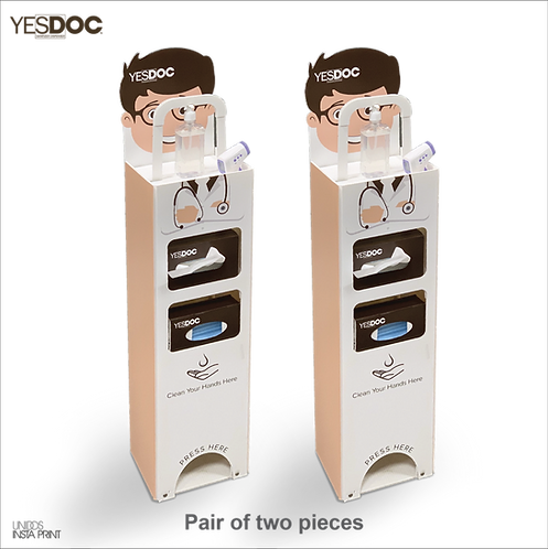 YESDOC™ - Foot Operated Handsfree Sanitizer Dispenser (Two pair)