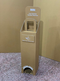100% Recyclable Craft Corrugated Foot Operated Sanitizer Dispenser