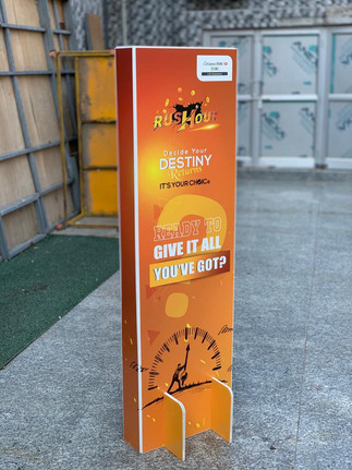Flat Pack Display Totem Standee - Ships Flat and Assembles Within Minutes