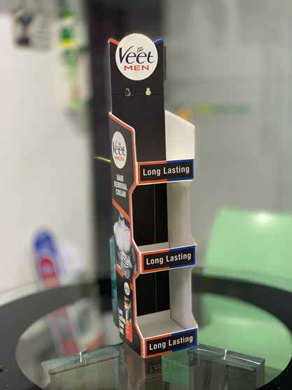 Foldable Wall Parasite Product Display Unit for Veet