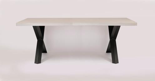 Stalen Design Tafel.Tafel Ardenne Nbl Design Kruispoot U Poot