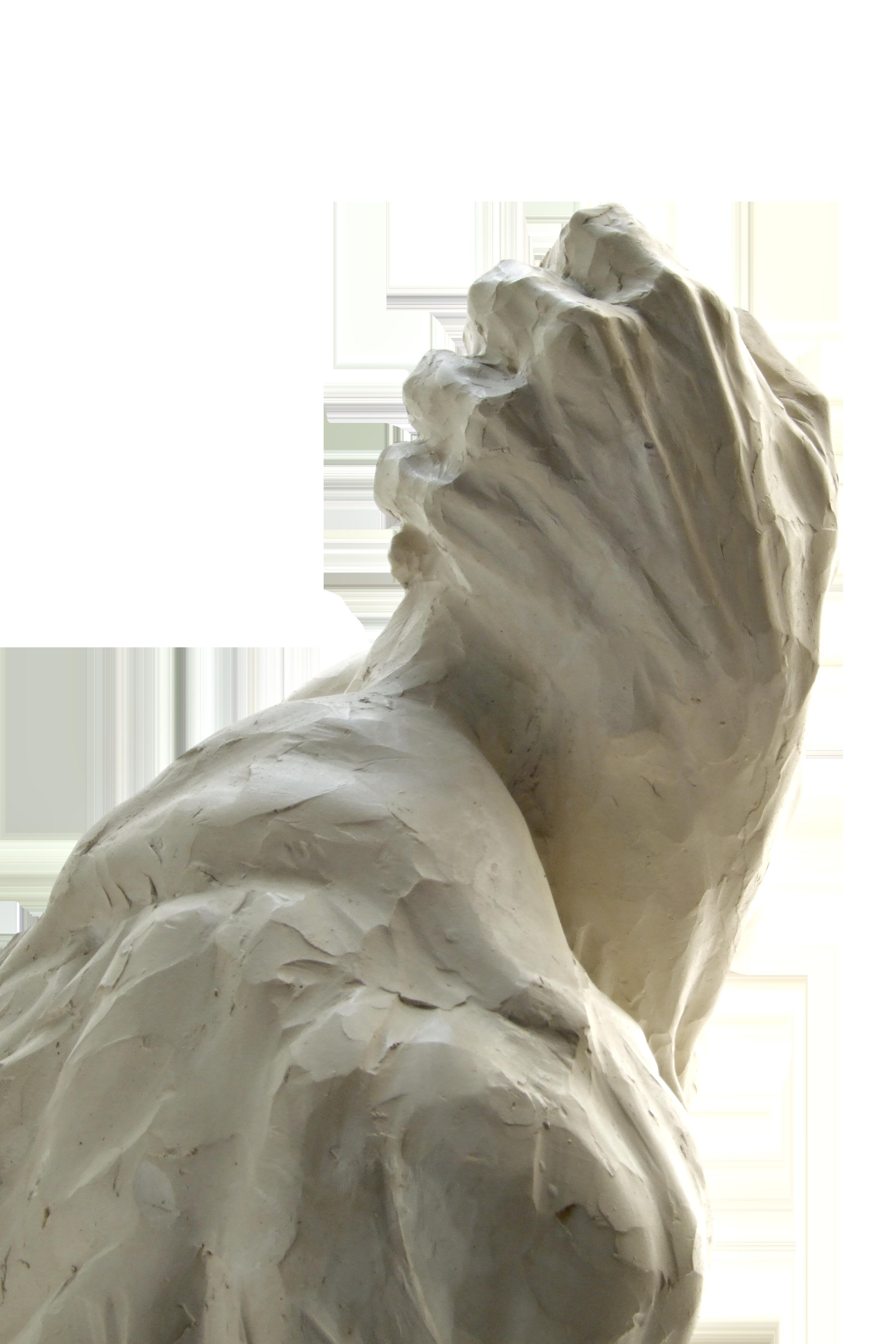 A volto coperto gesso, 1999 125x66x58