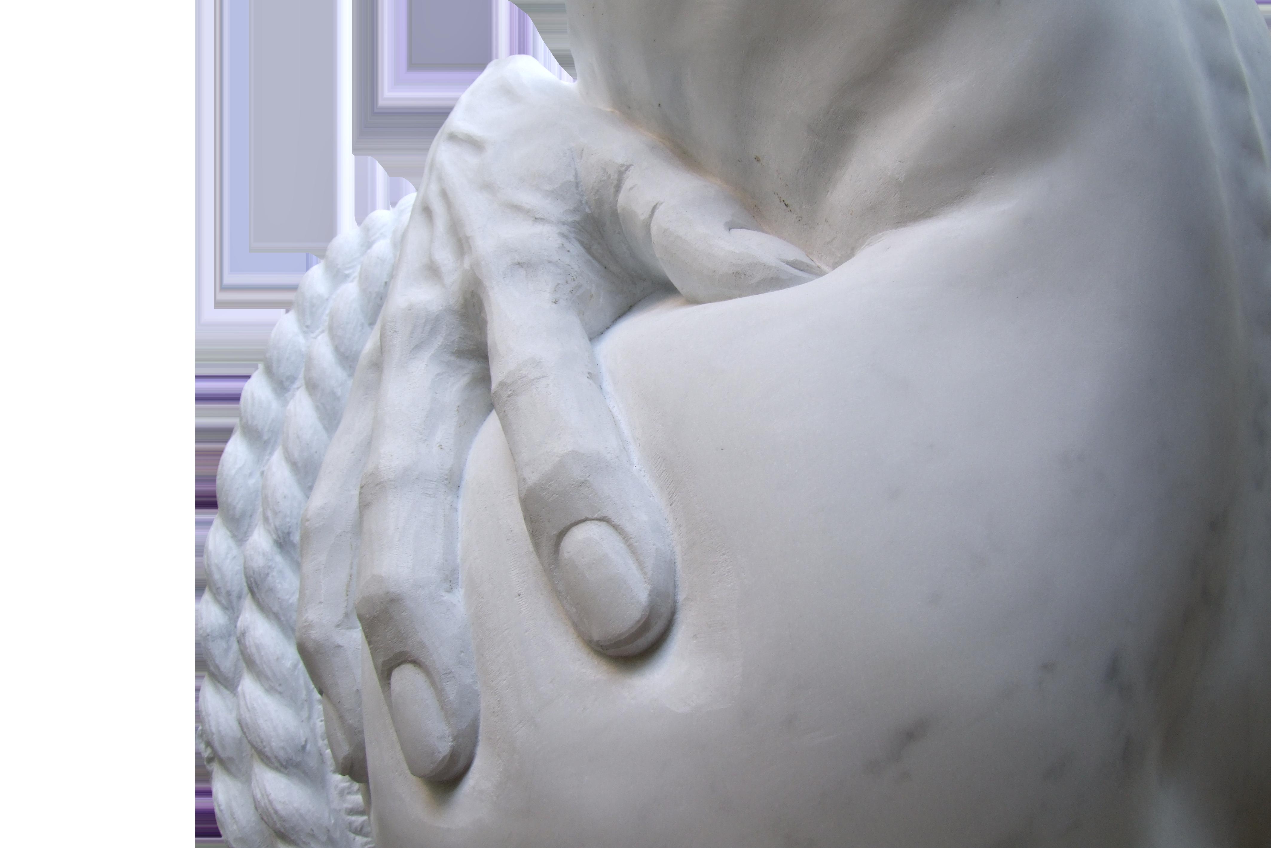 4 Zeus e Pandora, marmo, 60x65x55 cm 201