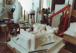 fiocco del Duomo di Milano, copia da originale-in lavorazione presso lo studio di Elena Mutinelli
